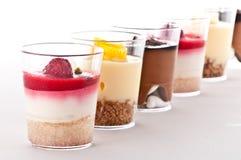 Dessert français dans une glace Photographie stock libre de droits