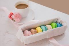 Dessert français pour servi avec la pause-café de thé ou d'après-midi Photo stock