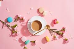 Dessert français pour servi avec la pause-café de thé ou d'après-midi Photographie stock libre de droits