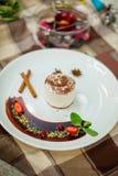 Dessert fresco del cioccolato Fotografia Stock