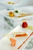 Dessert fresco tre Fotografia Stock Libera da Diritti