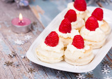 Dessert with fresh berries Royalty Free Stock Photos
