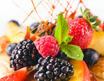 Dessert with fresh berries Stock Photography
