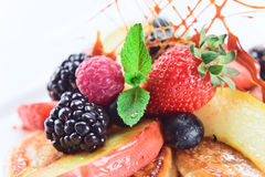 Dessert with fresh berries Royalty Free Stock Photography