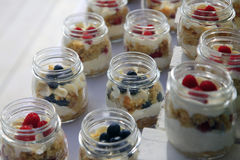 Dessert with fresh fruit Stock Photo