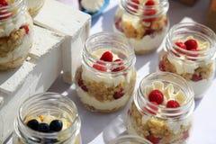 Dessert with fresh fruit Royalty Free Stock Photo
