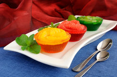 Dessert of fresh fruit in jelly Stock Photography
