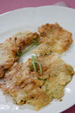 Dessert frit de plaque image stock