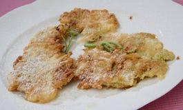 Dessert fritto sulla zolla Fotografia Stock Libera da Diritti