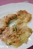 Dessert fritto sulla zolla Immagine Stock