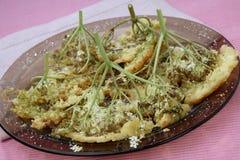 Dessert fritto sulla zolla Fotografia Stock