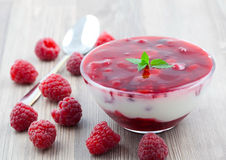 Dessert with fruit Stock Image