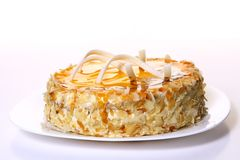 Dessert fruit cake with white chocolate Stock Images