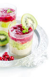 Dessert of fruit layers Stock Photography