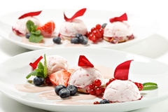 Dessert - Fruit Mousse Royalty Free Stock Photography