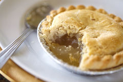 Dessert from fruit. A pie apple and a lemon Royalty Free Stock Photography