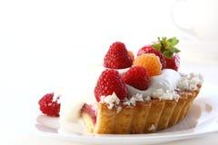 Dessert fruitcake cake with blueberry Royalty Free Stock Photography