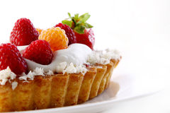Dessert fruitcake cake with blueberry Royalty Free Stock Photos