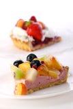 Dessert Fruitcake Cake With Blueberry Stock Image