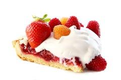 Dessert Fruitcake Cake With Blueberry Stock Photo