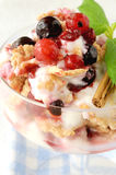 Dessert with fruits, nuts and cream cheese Royalty Free Stock Image