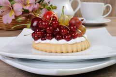 Dessert with fruits Royalty Free Stock Photo