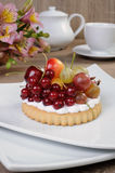 Dessert with fruits Royalty Free Stock Image