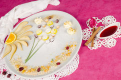 Dessert fruttato del bambino Fotografia Stock Libera da Diritti
