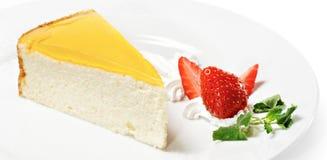 Dessert - gâteau au fromage orange photographie stock