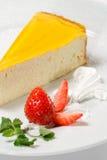 Dessert - gâteau au fromage orange image stock