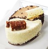 Dessert - gâteau de Yin-yang Photographie stock
