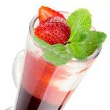 Dessert gastronome avec la fraise Photos libres de droits