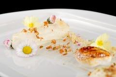 Dessert gastronome dinant fin Images libres de droits