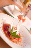 Dessert gastronomici Fotografia Stock Libera da Diritti