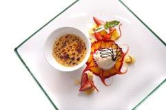 Dessert gastronomico Fotografia Stock Libera da Diritti