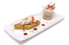 Dessert gastronomico Immagini Stock