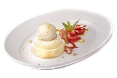 Dessert gastronomico Immagine Stock