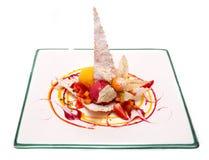 Dessert gastronomico Fotografia Stock