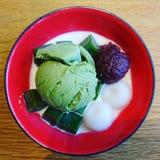 Dessert giapponese Fotografia Stock Libera da Diritti