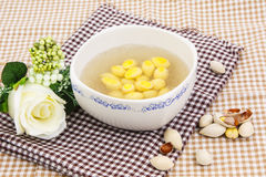 Dessert from ginkgo seed and swallow nest Stock Images
