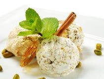 Dessert - glace faite maison Photographie stock libre de droits