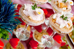 Dessert in a glass salad bowl Stock Image