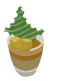 Dessert in glass. Vector illustration mango cream dessert in glass Royalty Free Stock Photo