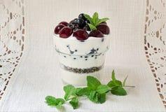 Dessert greco del yogurt Fotografie Stock