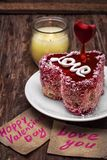 Dessert for the holiday Valentine's day Royalty Free Stock Images