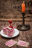 Dessert for the holiday Valentine's day Stock Image