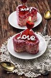 Dessert for the holiday Valentine's day Royalty Free Stock Photography