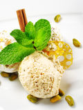 Dessert - Home-made Ice-cream royalty free stock photography