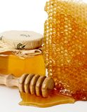 Dessert honey. Green and healthy bee honey Royalty Free Stock Photography