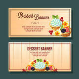 Dessert horizontal banner Stock Image